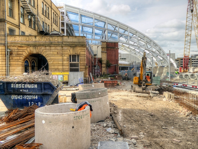 Victoria Station Redevelopment - Long Millgate Entrance (August 2014)