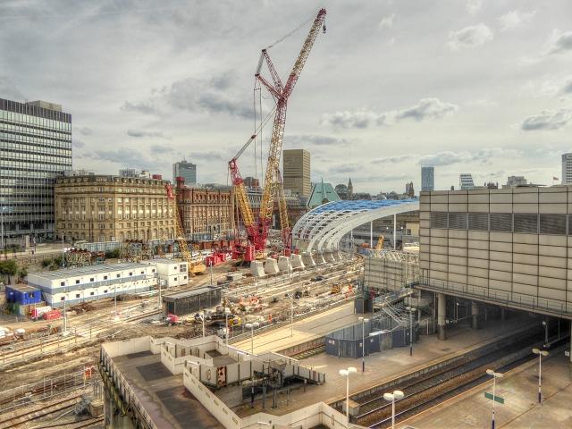 Manchester Victoria Station Redevelopment Site (August 2014)