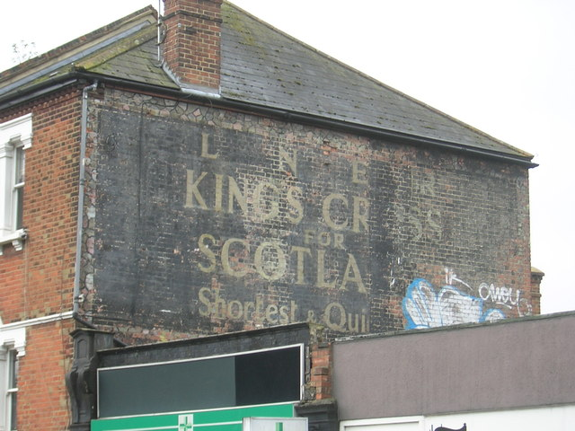 LNER ghost-sign, South End Road, NW3