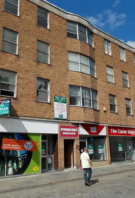 Wyndham House Business Centre entrance, Bridgend