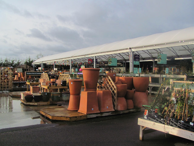 Outside Displays at the Bulbourne Garden Centre, near Tring