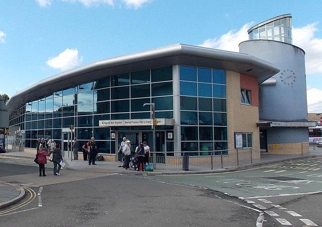 Quarella Road entrance to Bridgend Bus Station