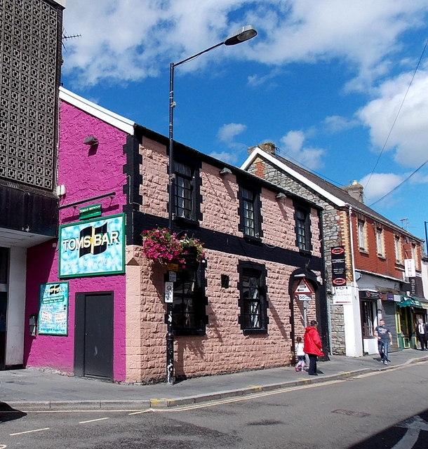 Tom's Bar in Market Street, Bridgend