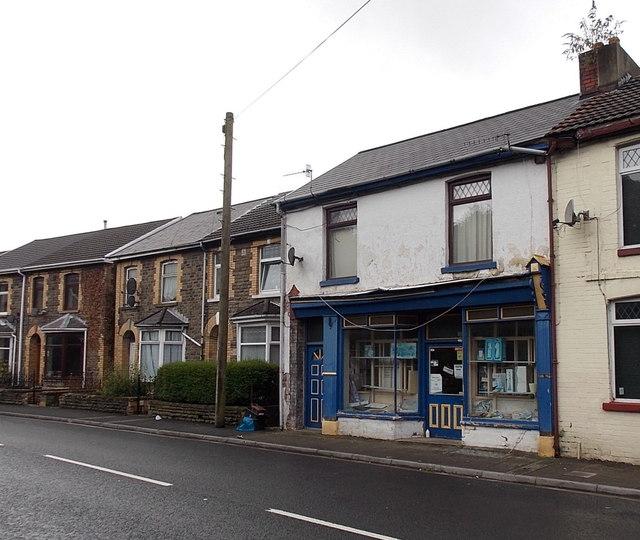 Abandoned shop in Blaengarw