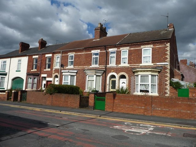 Houses, east side, Queen's Street, Doncaster