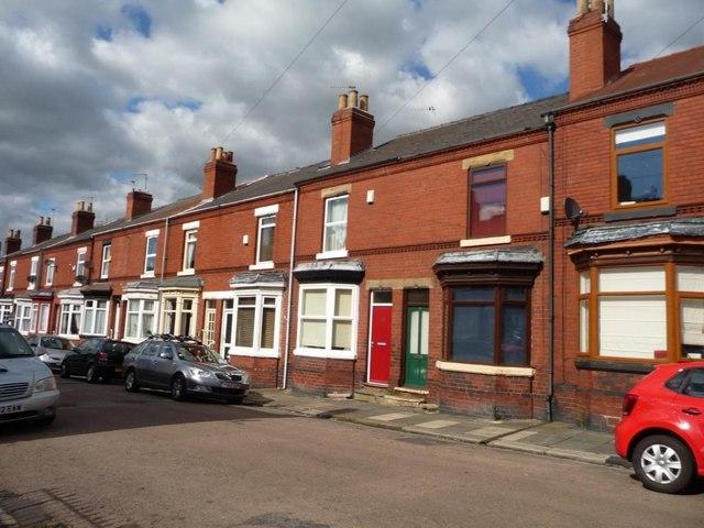 Houses, east side, Baxter Avenue, Doncaster
