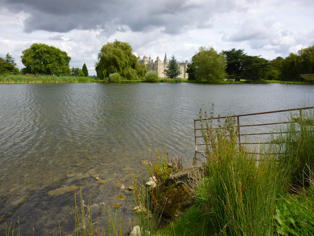 Old fence on the edge of the lake - Burghley House, Stamford