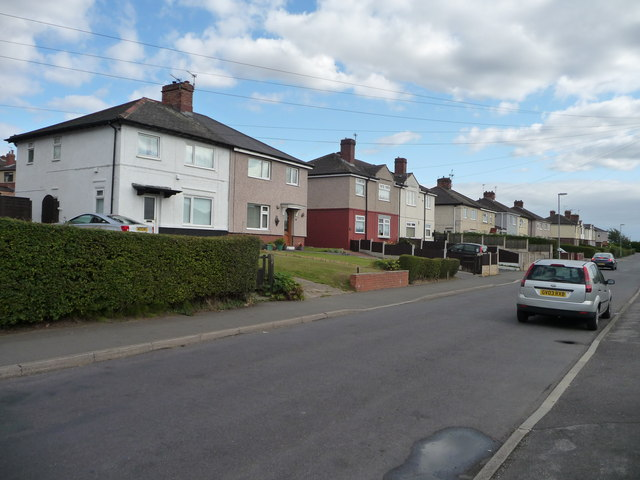 East side, Arundel Avenue, Treeton