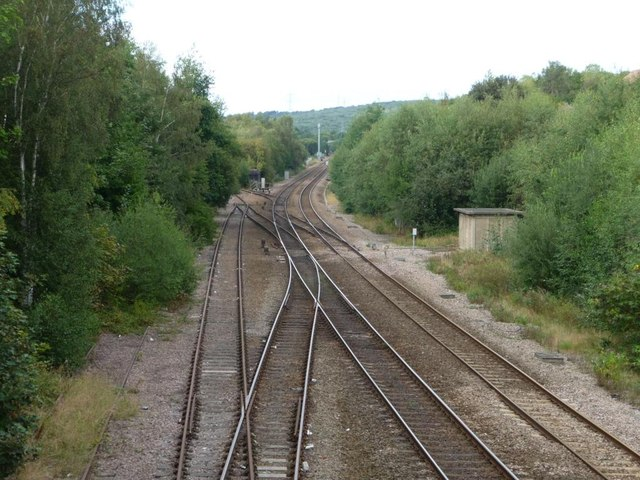 Railway lines north of Mill Lane, Treeton