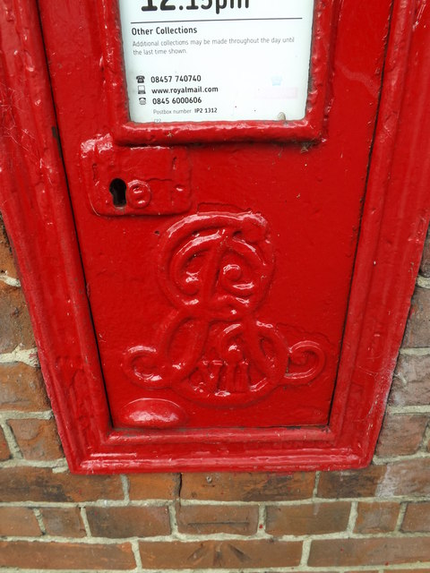 Royal Cypher on 8 Belstead Road Edward VII Postbox
