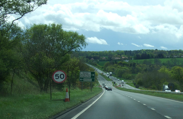 Downhill stretch of the A1