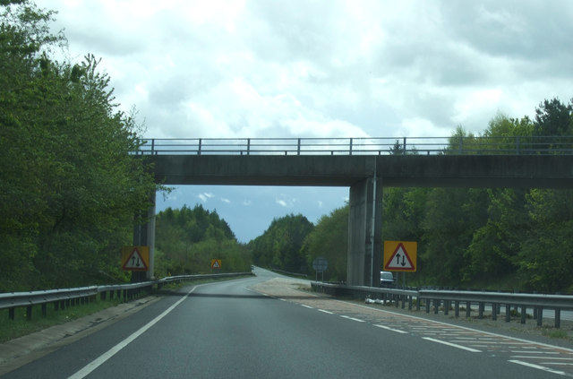 B6345 bridge over the A1 near Felton