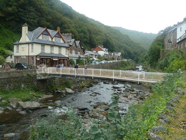 Footbridge over the East Lyn River, Lynmouth