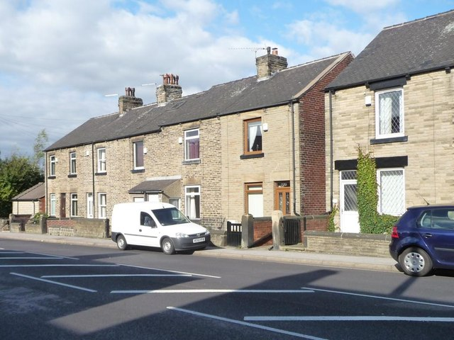 Houses, east side of Sheffield Road [A61], Birdwell