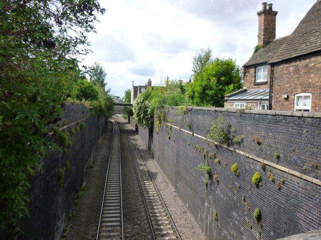 Railway lines, High Street St Martin's, Stamford