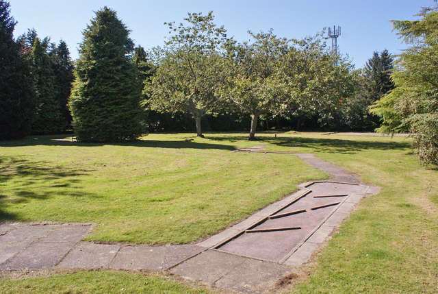 Disused crazy golf course