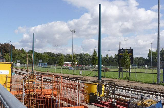 Tramway alongside Beeston Hockey Club