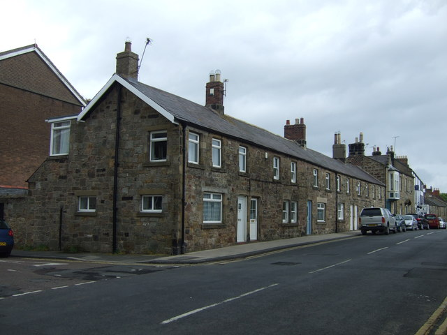 Houses on Northumberland Street, Alnmouth