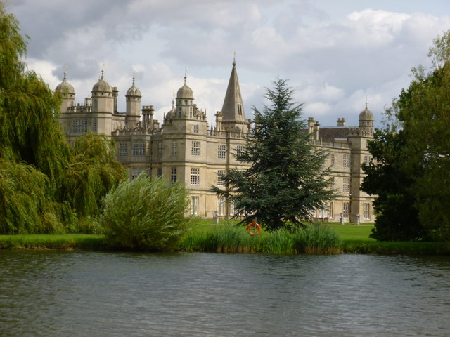 Burghley House and lake near Stamford
