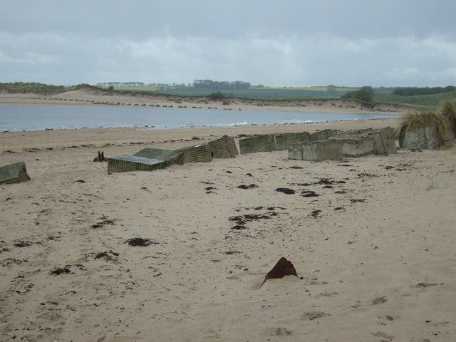 Wartime defences, Alnmouth Bay