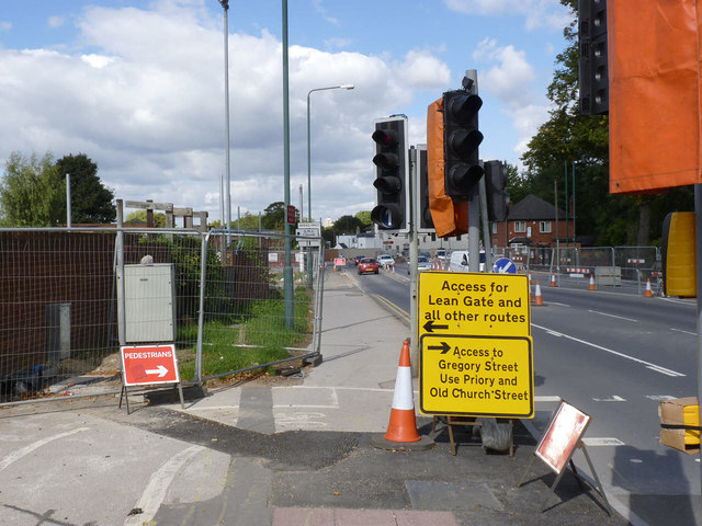 Diversion signs on Abbey Street
