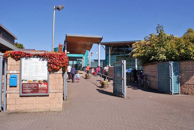 Inverness Leisure, public entrance