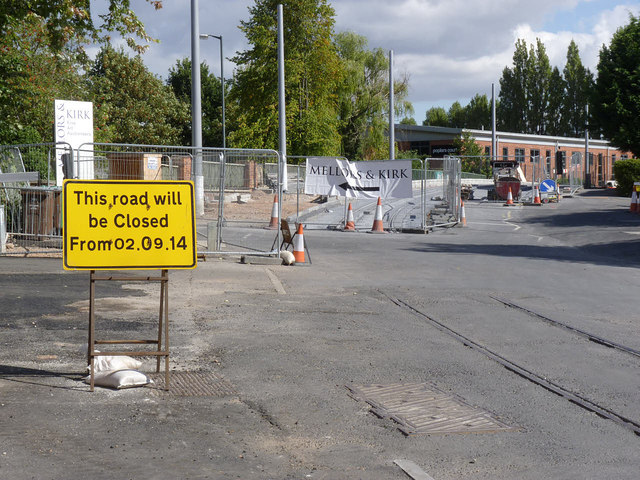 Road closure on Gregory Street