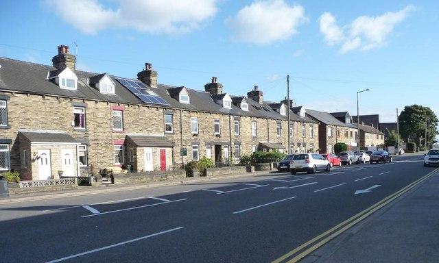 Houses, east side, Sheffield Road, Birdwell