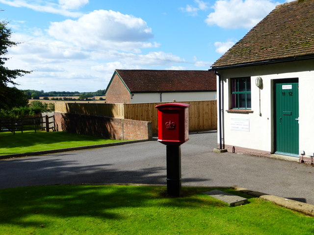 Post box at Old Aylesfield Buildings