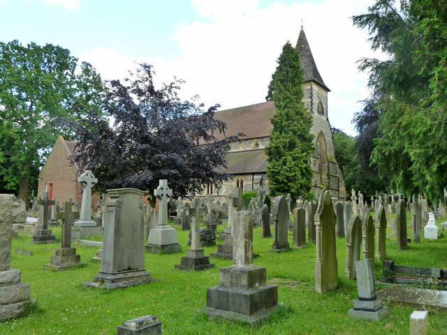 Church and churchyard, Shirley