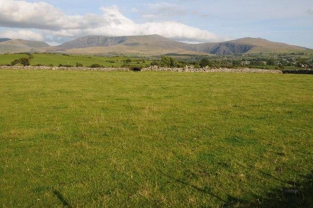 Farmland above Penygroes