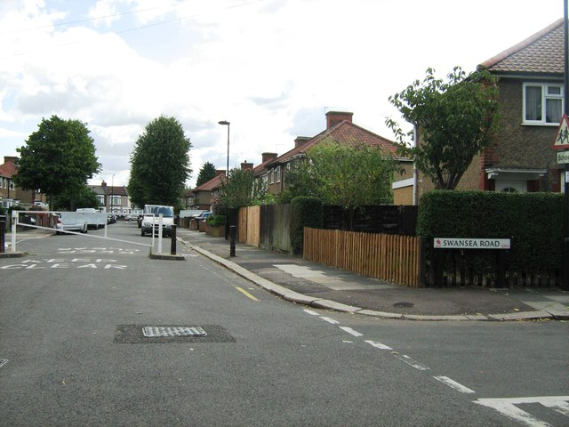 Brecon Road, closed off by gate