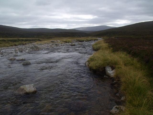 River Eidart below Cnapan Eachan in Glenfeshie estate
