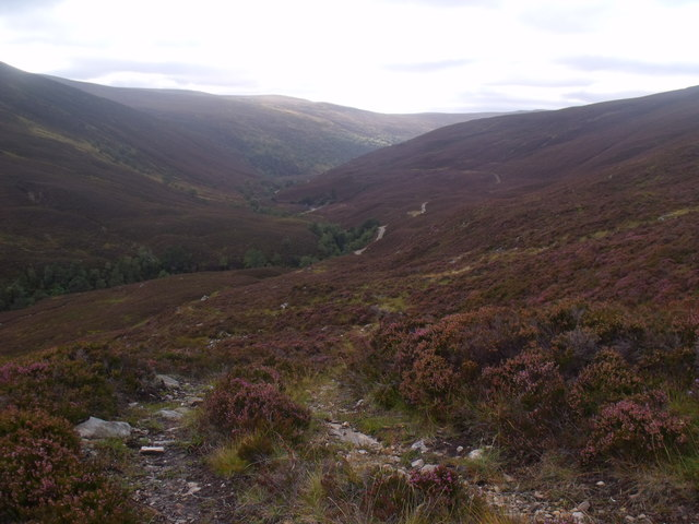 ATV track perched above Glenfeshie