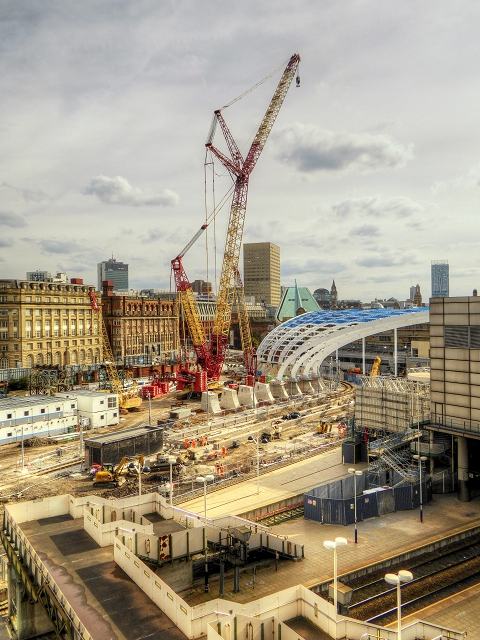 Construction Work at Manchester Victoria (August 2014)