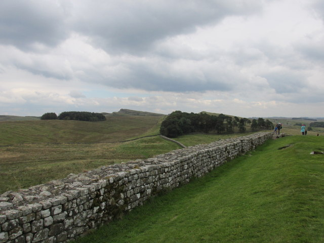 View East along Hadrians wall.