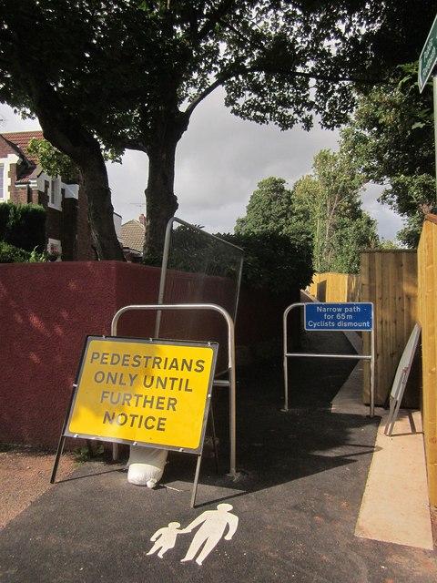 Re-opened path, Shiphay Lane