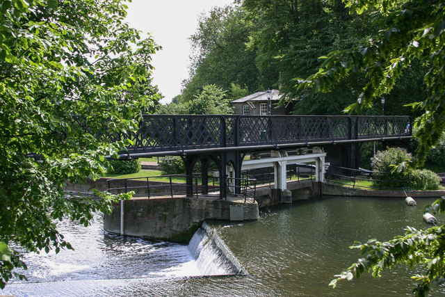Jesus Green Lock and Footbridge