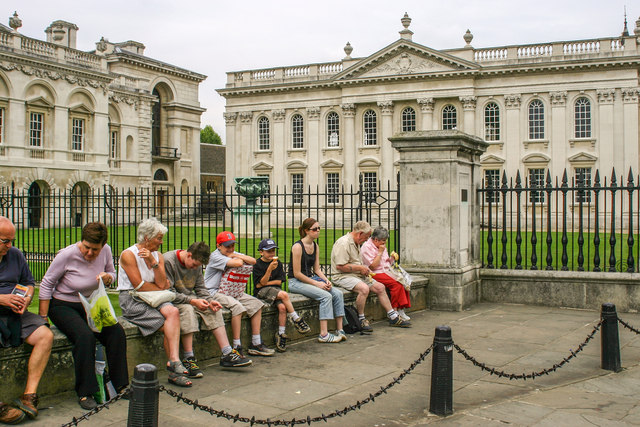 Tourists outside the Senate House