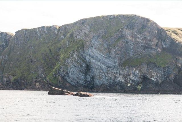Rocks near Rubha na Leacan Bànaig, Islay