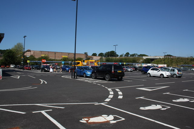 Sainsbury's car park, Mount Pleasant Business Park