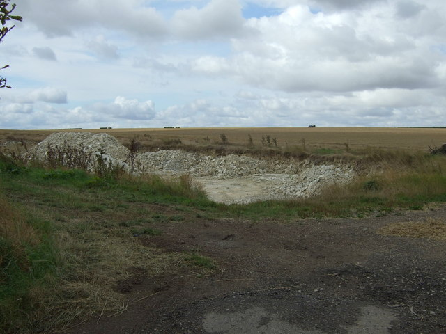 Stone quarry near Charleston Farm