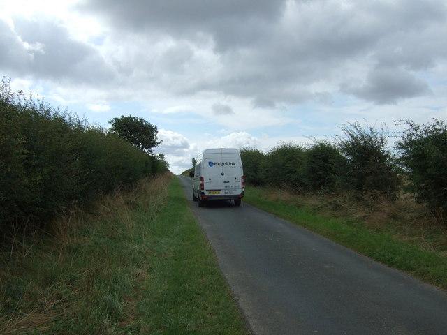 White van person on country lane