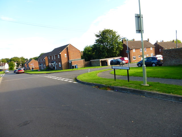 Junction of Kersley Crescent and Pither Road