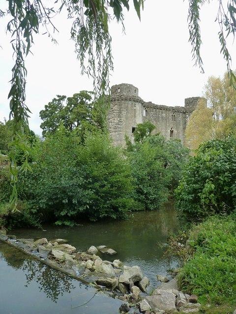 Nunney Castle from Church Street