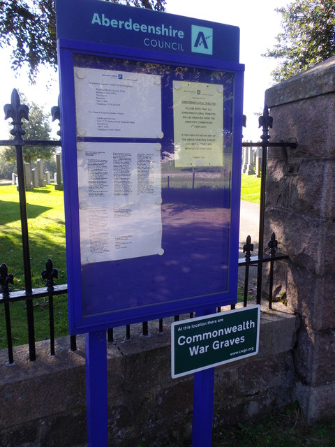 Aberdeenshire County Council notice board
