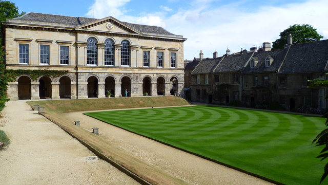 The Main Building and the Cottages, Worcester College, Oxford