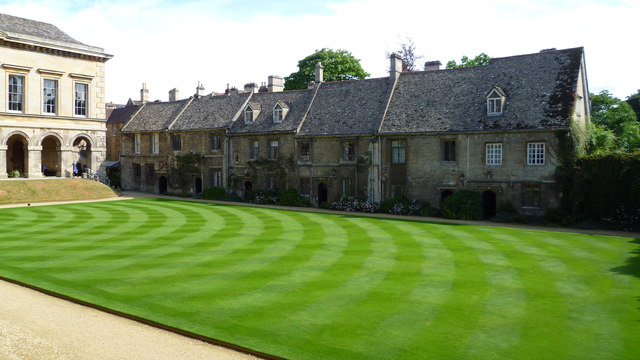The quad and the Cottages, Worcester College, Oxford