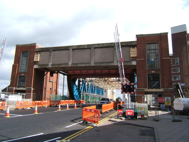 Drypool Bridge under repair