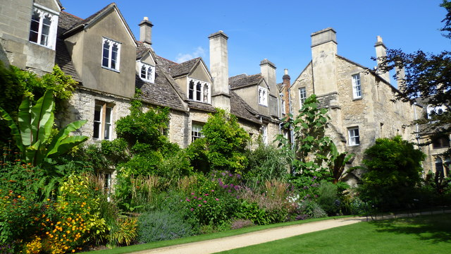 The rear of the Cottages, Worcester College, Oxford
